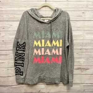 VS Pink | grey Miami hoodie